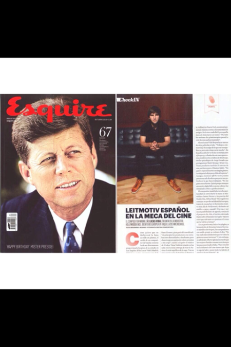 Lucas Vidal in this month's issue of Esquire