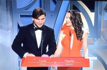 At the Premios Platino
